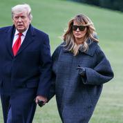 Melania Trump, pas si incognito sous le manteau