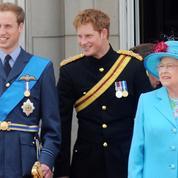 En images, les moments forts entre Elizabeth II et ses petits-fils, les princes William et Harry
