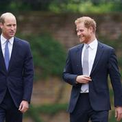 Inauguration de la statue de Lady Di: sans Meghan et Kate, les princes William et Harry complices comme avant