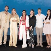 Stéphanie de Monaco entourée de ses enfants Louis, Pauline et Camille pour une soirée de gala sur le Rocher