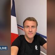Que signifie le t-shirt noir porté par Emmanuel Macron dans sa vidéo postée sur TikTok ?