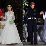 Le match des robes de mariée de Kate Middleton et Meghan Markle