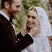 Et Lily Collins se maria dans une robe