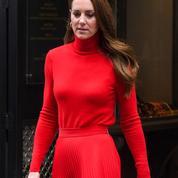 En photos : Kate Middleton, la duchesse était en rouge