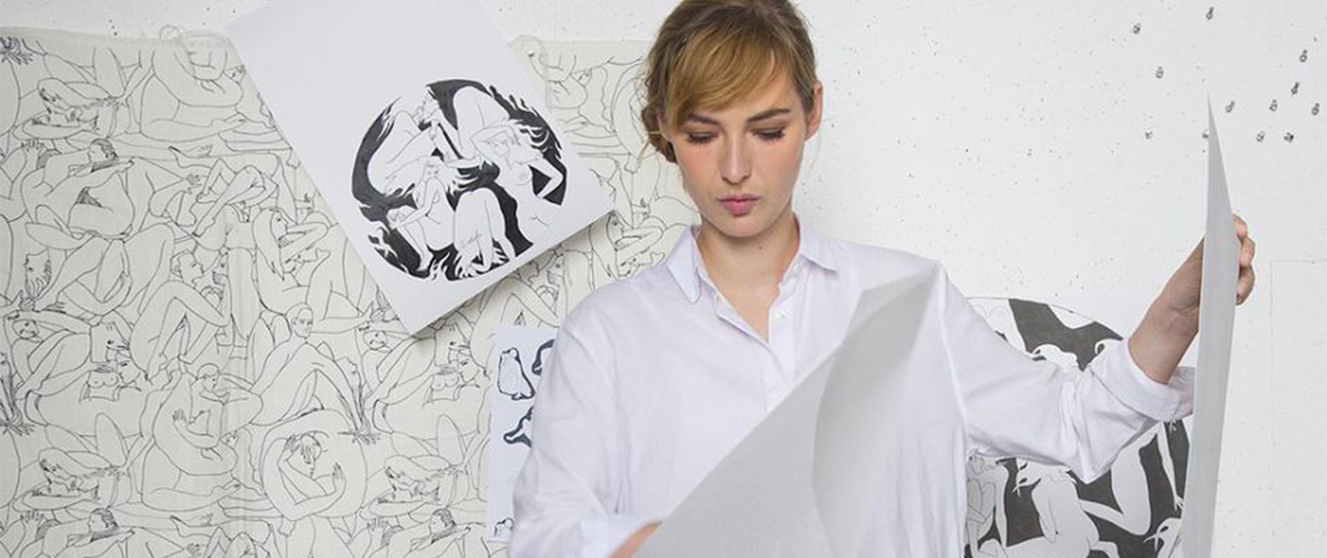 Papier Peint Pierre Frey louise bourgoin dessine du papier peint pour pierre frey