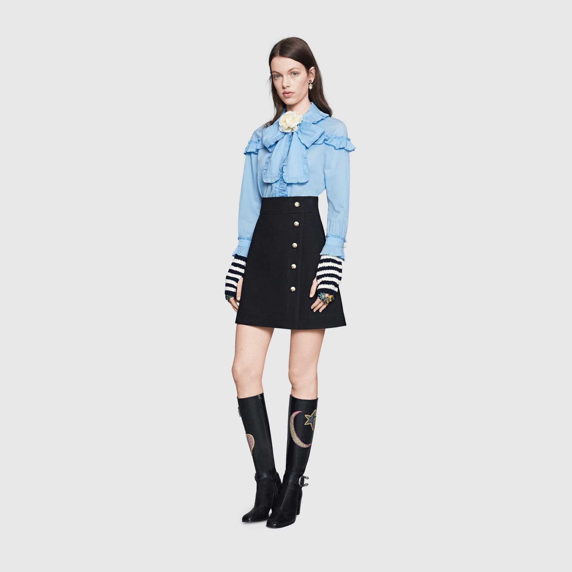cace13a2d16 ... Bien choisir sa jupe en fonction de sa morphologie   la droite par  Uterqüe Bien choisir sa jupe en fonction de sa morphologie   la mini par  Lanvin Bien ...