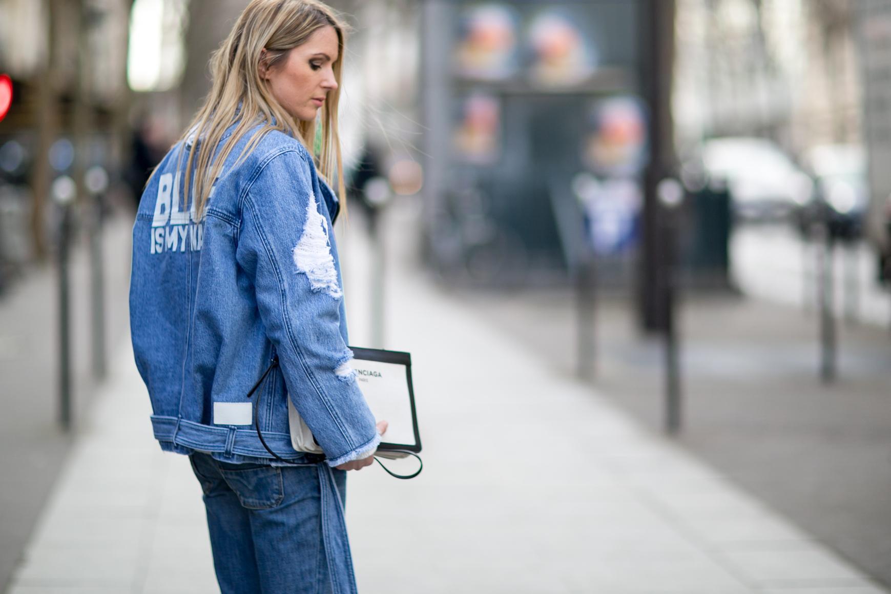 mode veste en jean