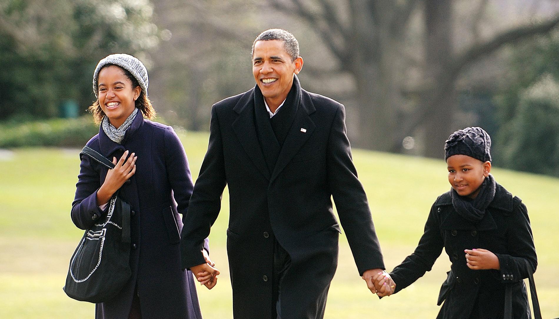 Malia Et Sasha Obama 8 Ans Passes A La Maison Blanche En Photos