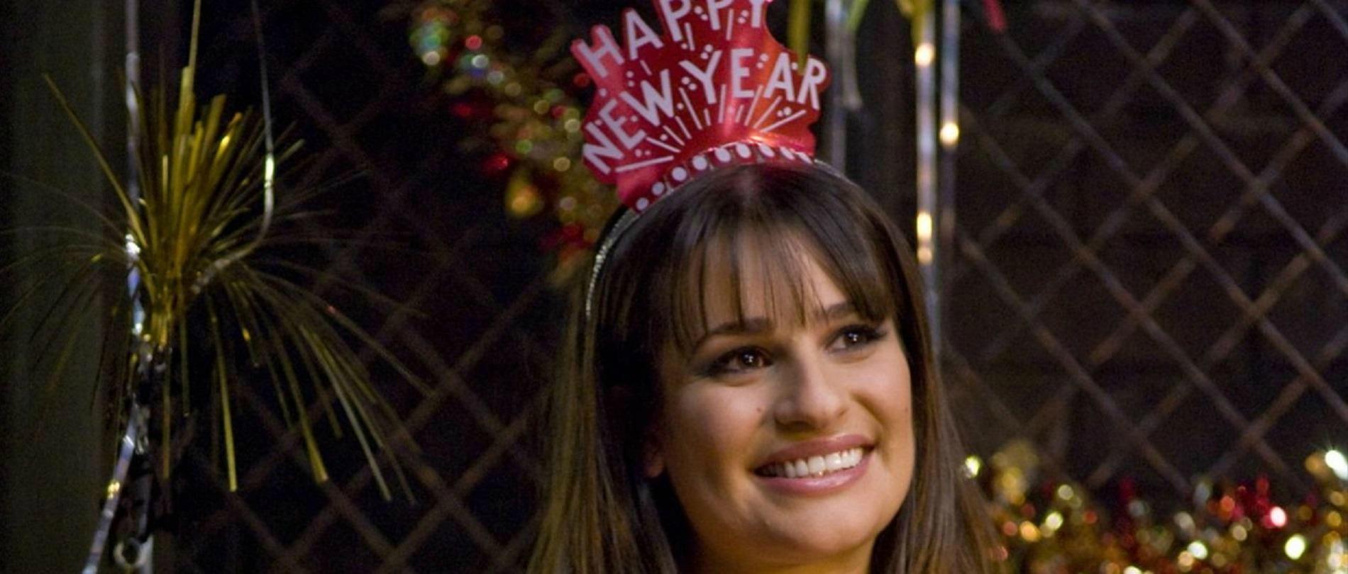 ff0f5dde6c Comment s'habiller festif sans passer pour celle qui «a mis le paquet» pour  le réveillon du Nouvel An ? (L'actrice Lea Michele dans le film Happy New  Year.)