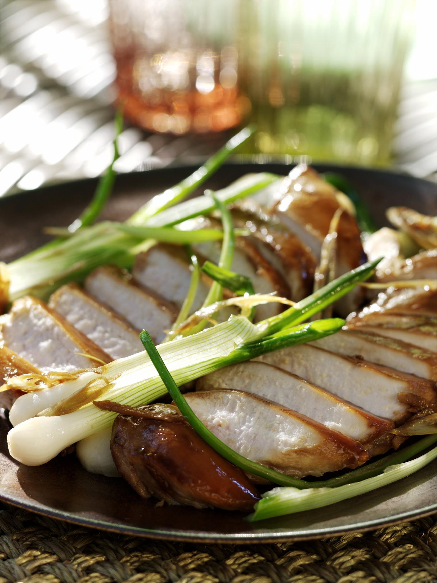 Recette blanc de poulet aux oignons blancs - Cuisine ...
