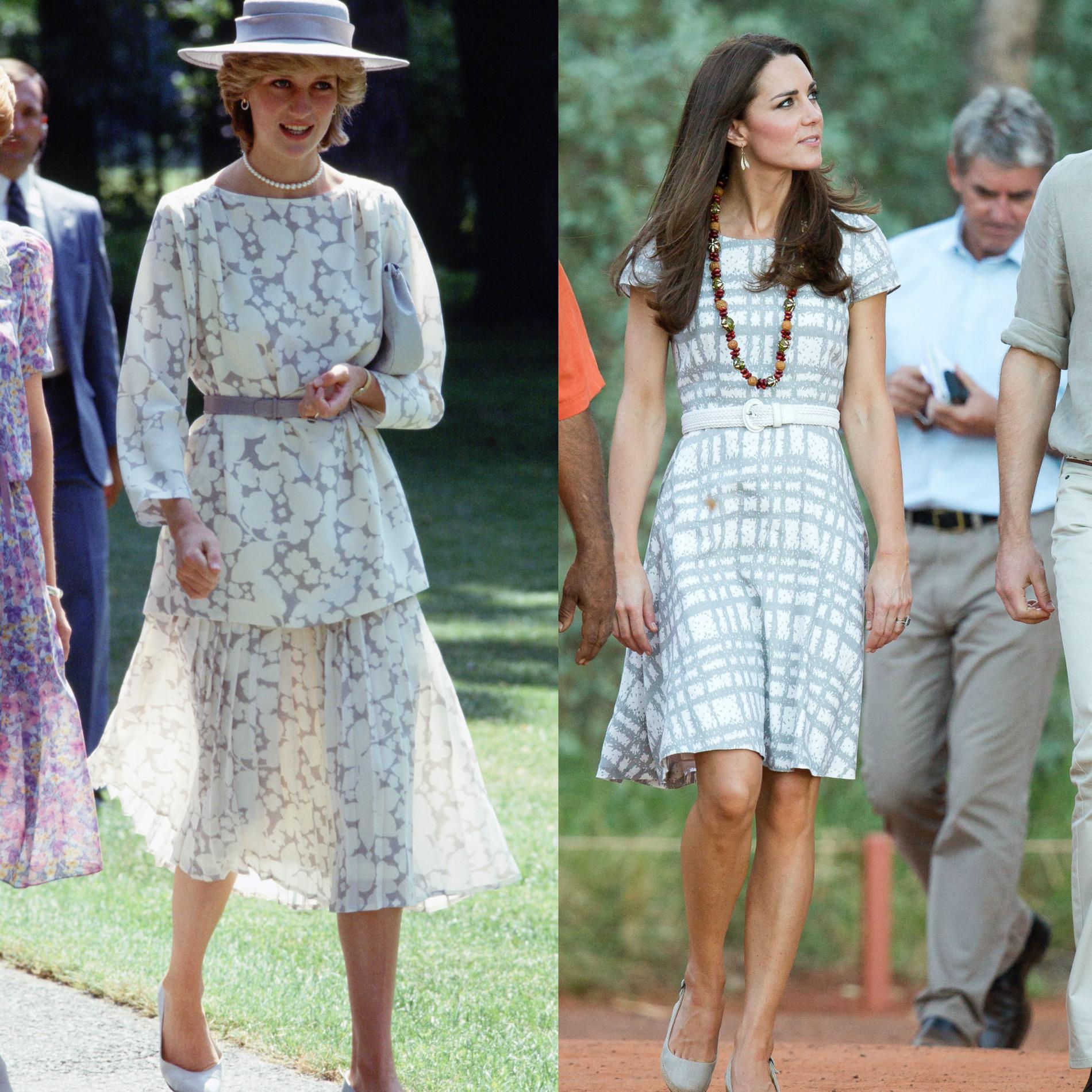 19f9aa38793 ... Les points communs mode de Lady Diana et Kate Middleton - en robe  immaculée Les points communs mode de Lady Diana et Kate Middleton - En robe  fleurie ...