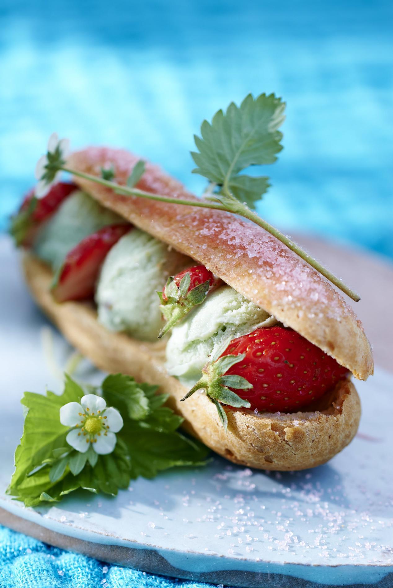 Recette Glace Pistache Sans Oeufs Éclairs glace pistache et fraises