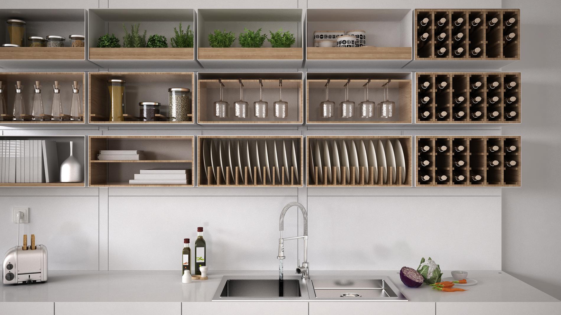 Bien r organiser sa cuisine en quatre tapes faciles cuisine madame figaro - Les petit meubles de marie ...