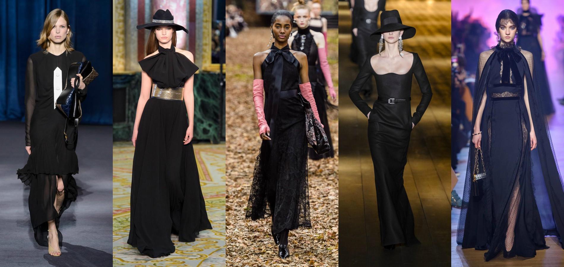 b34cf97dc8b Fashion Week automne-hiver 2018-2019   la robe noire prend une ...