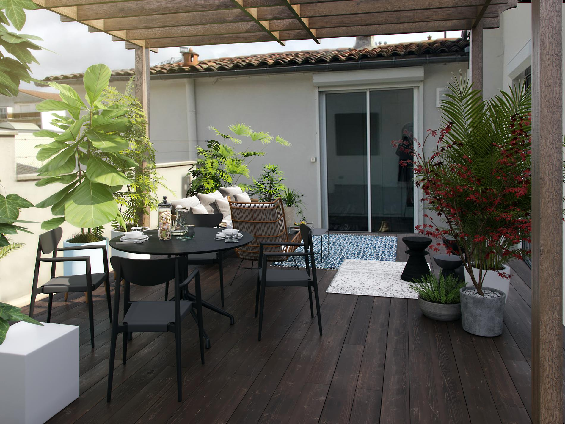 Tapis Afaw La Redoute comment décorer sa terrasse ? - madame figaro