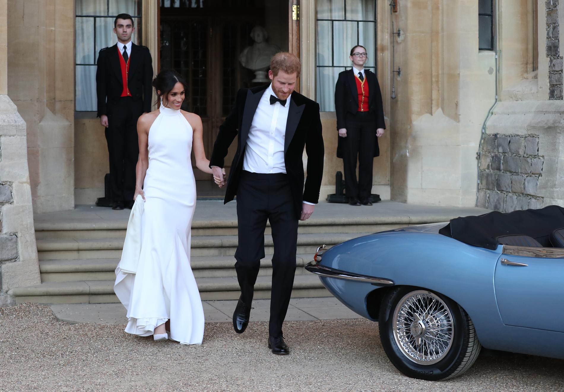 La Seconde Robe De Mariee Tres Hollywoodienne De Meghan