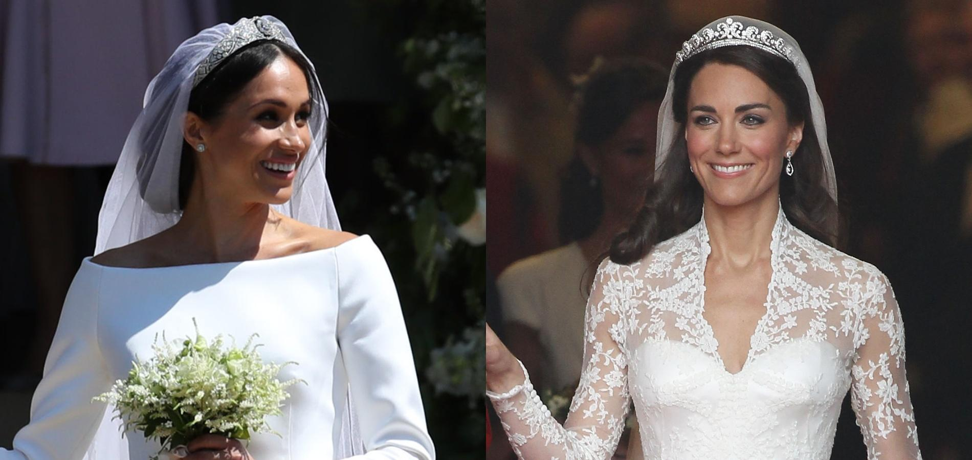 Le Match Des Robes De Mariée De Kate Middleton Et Meghan