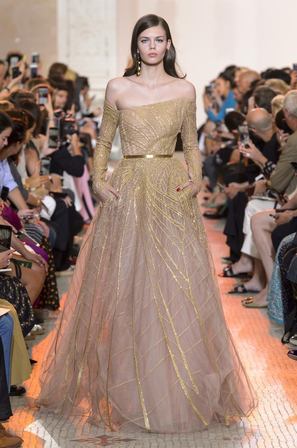 Les robes de rêves repérées à la Fashion Week haute couture  automne,hiver 2018,2019 , Elie Saab