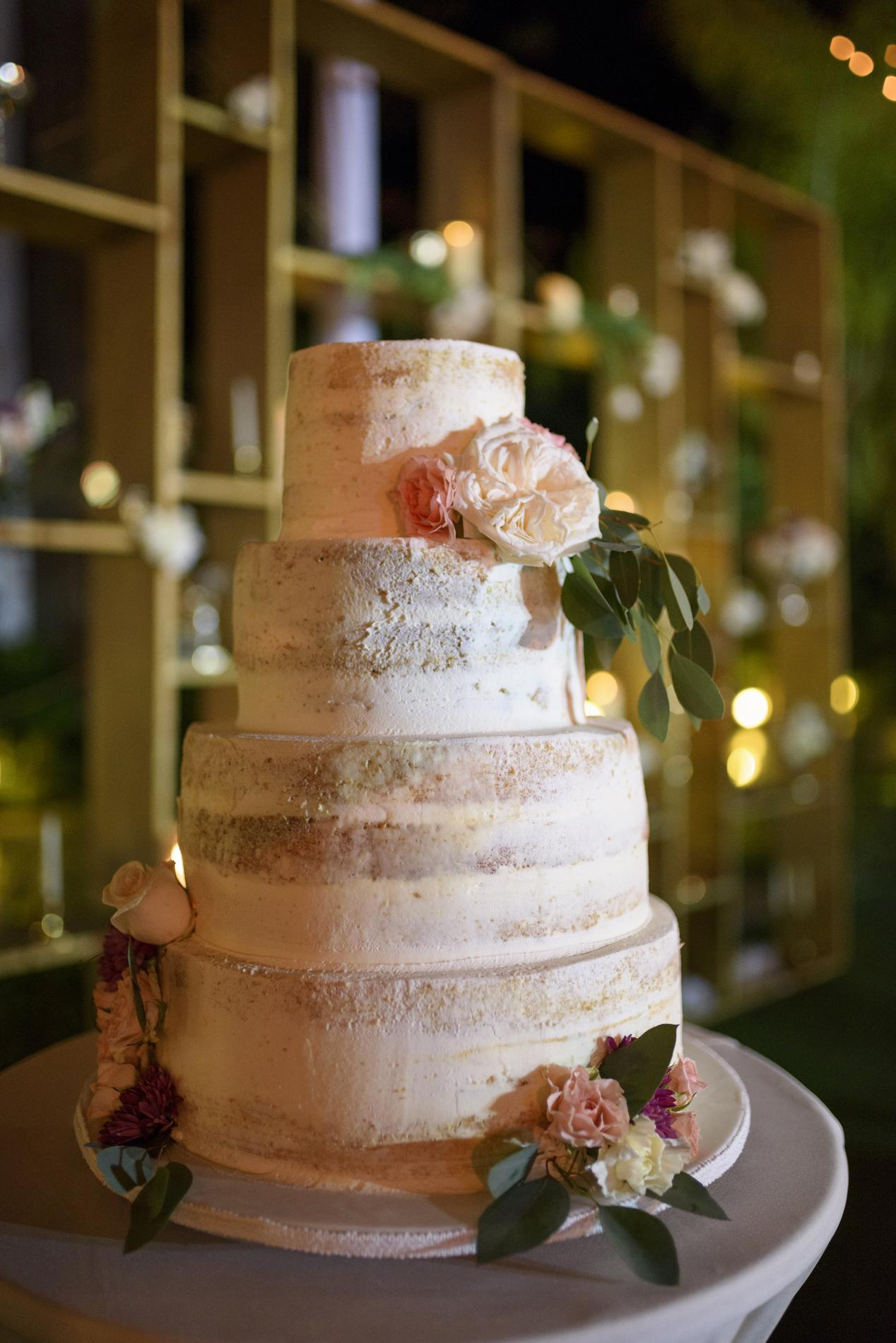 Orné De Fleurs De Perles Effet Cristal Des Gâteaux De