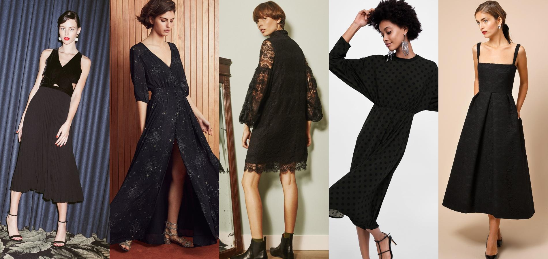 e491b67d3a2 La robe noire reste un incontournable du dressing féminin. De gauche à  droite   Idano