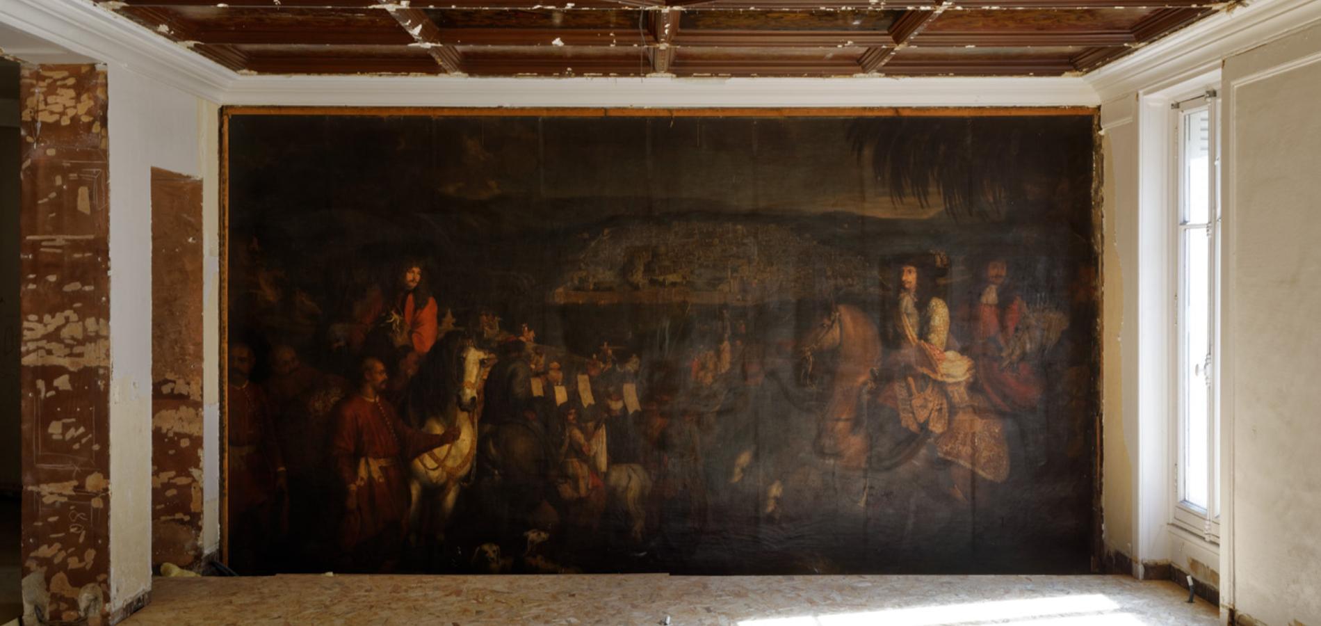 Une Mysterieuse Peinture Retrouvee Dans Les Murs De La Boutique Oscar De La Renta A Paris Madame Figaro