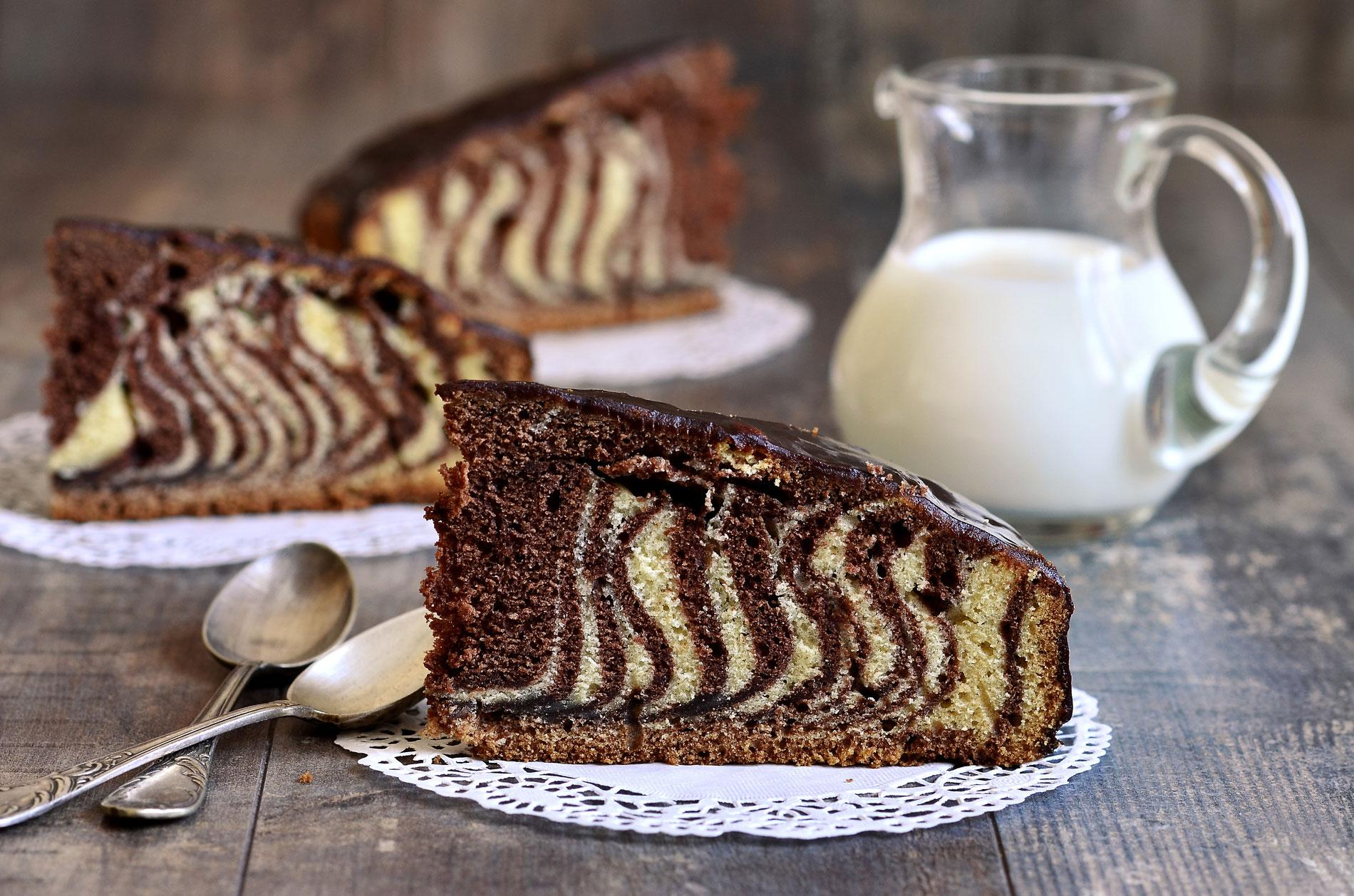 Recette cake marbré au chocolat au lait