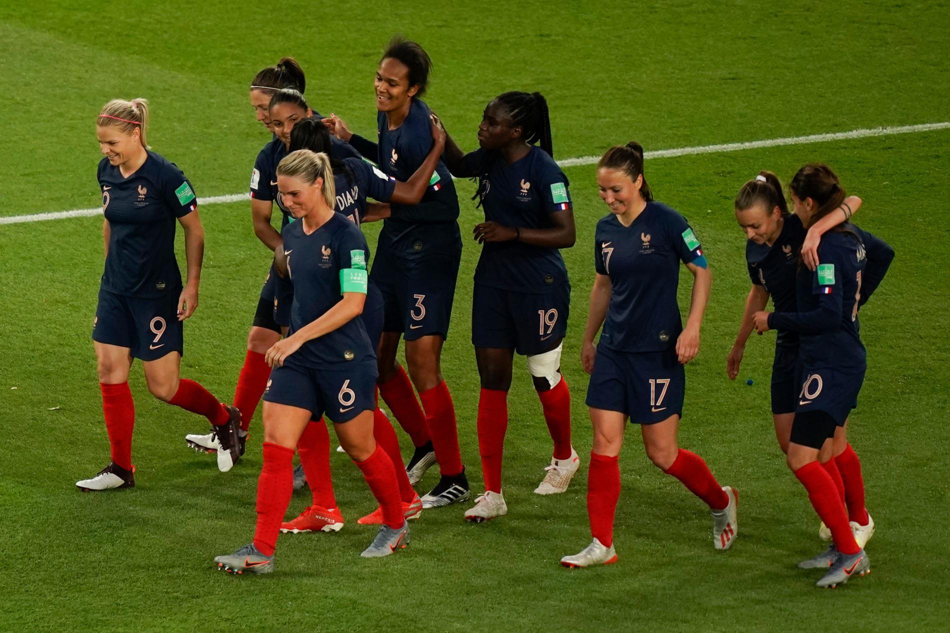 L\u0027équipe de France lors de la Coupe du monde féminine de football 2019