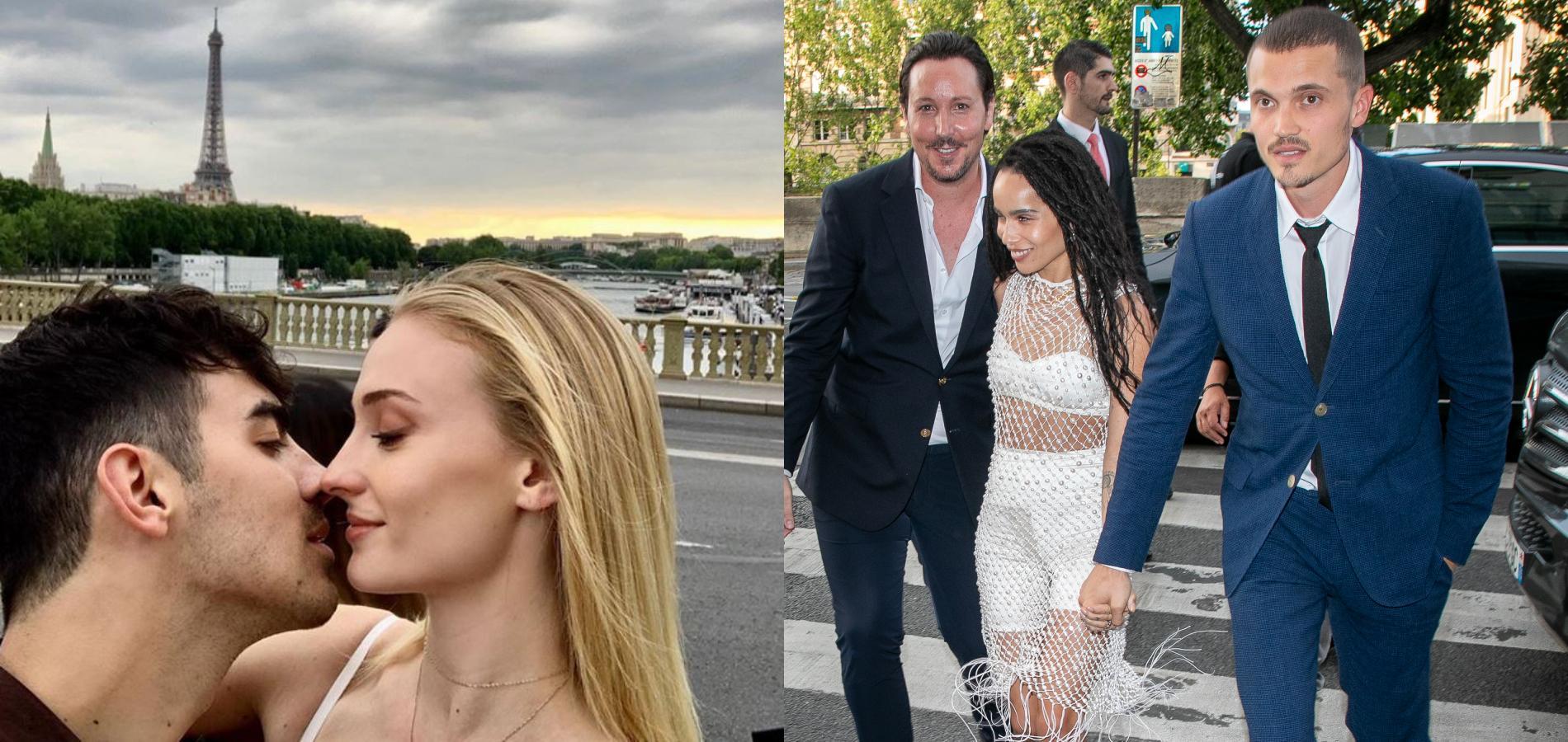 Mariages hollywoodiens en France  le match des cérémonies de Zoë Kravitz  et Sophie Turner
