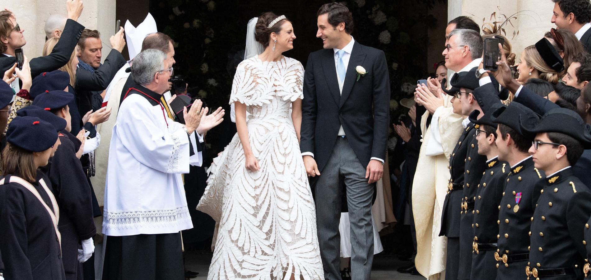 En photos, le mariage de l\u0027héritier de Napoléon et la