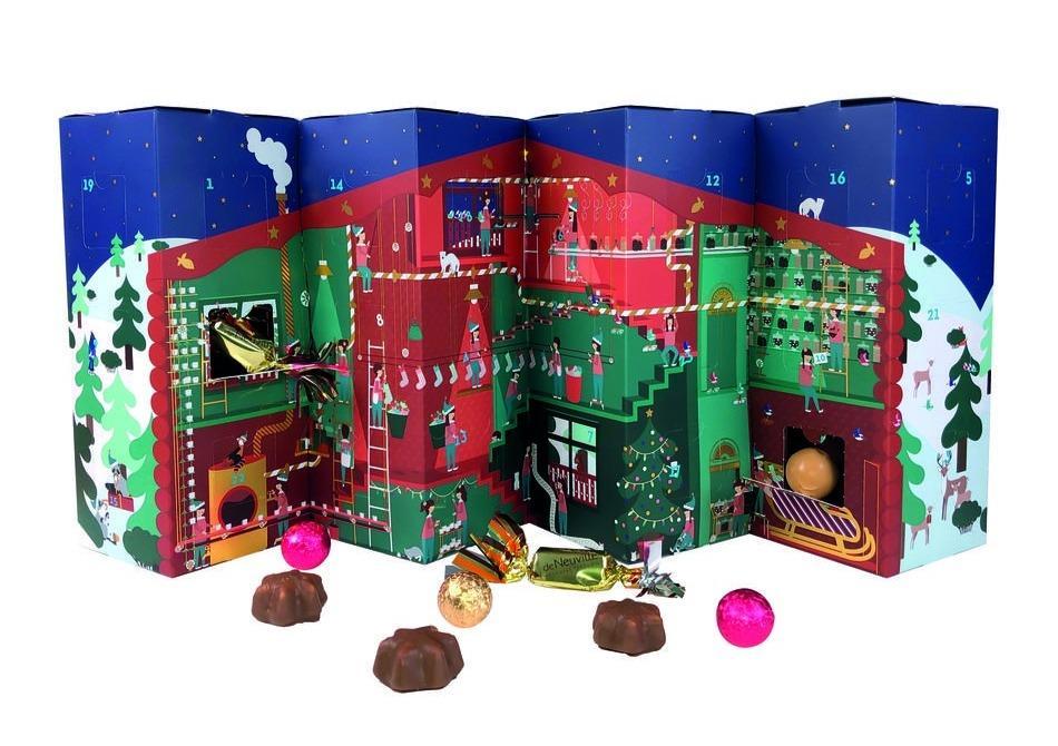 Deluxe traditionnel carte avent calendrier grand-les animaux de célébrer noël