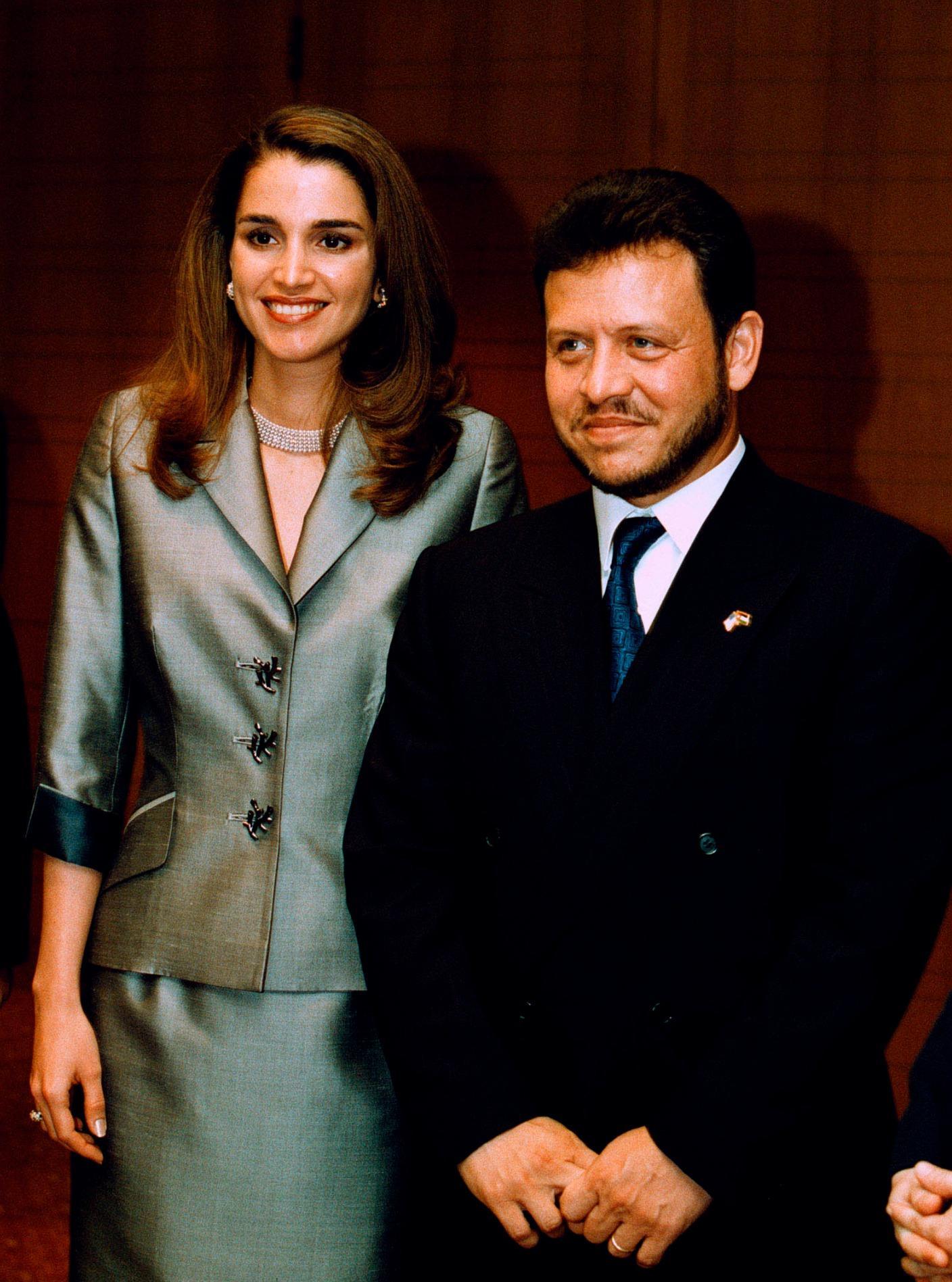 Rania et Abdallah II de Jordanie