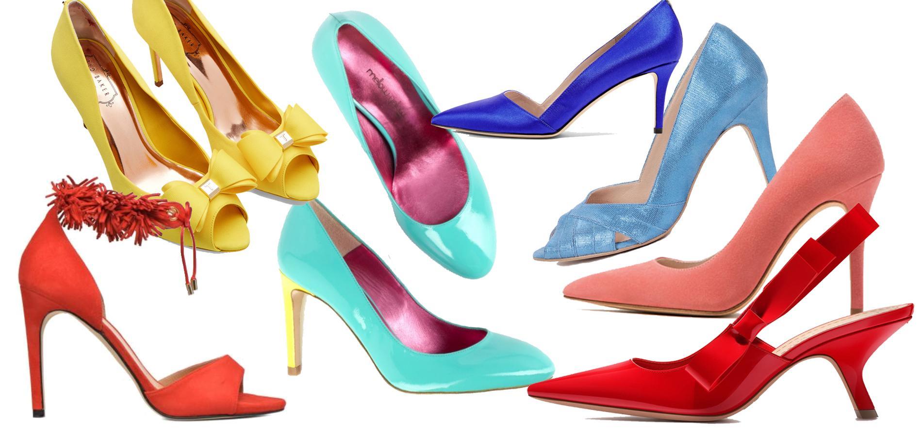 6b1271ef7486 Des chaussures colorées pour égayer la tenue de la mariée - Madame Figaro