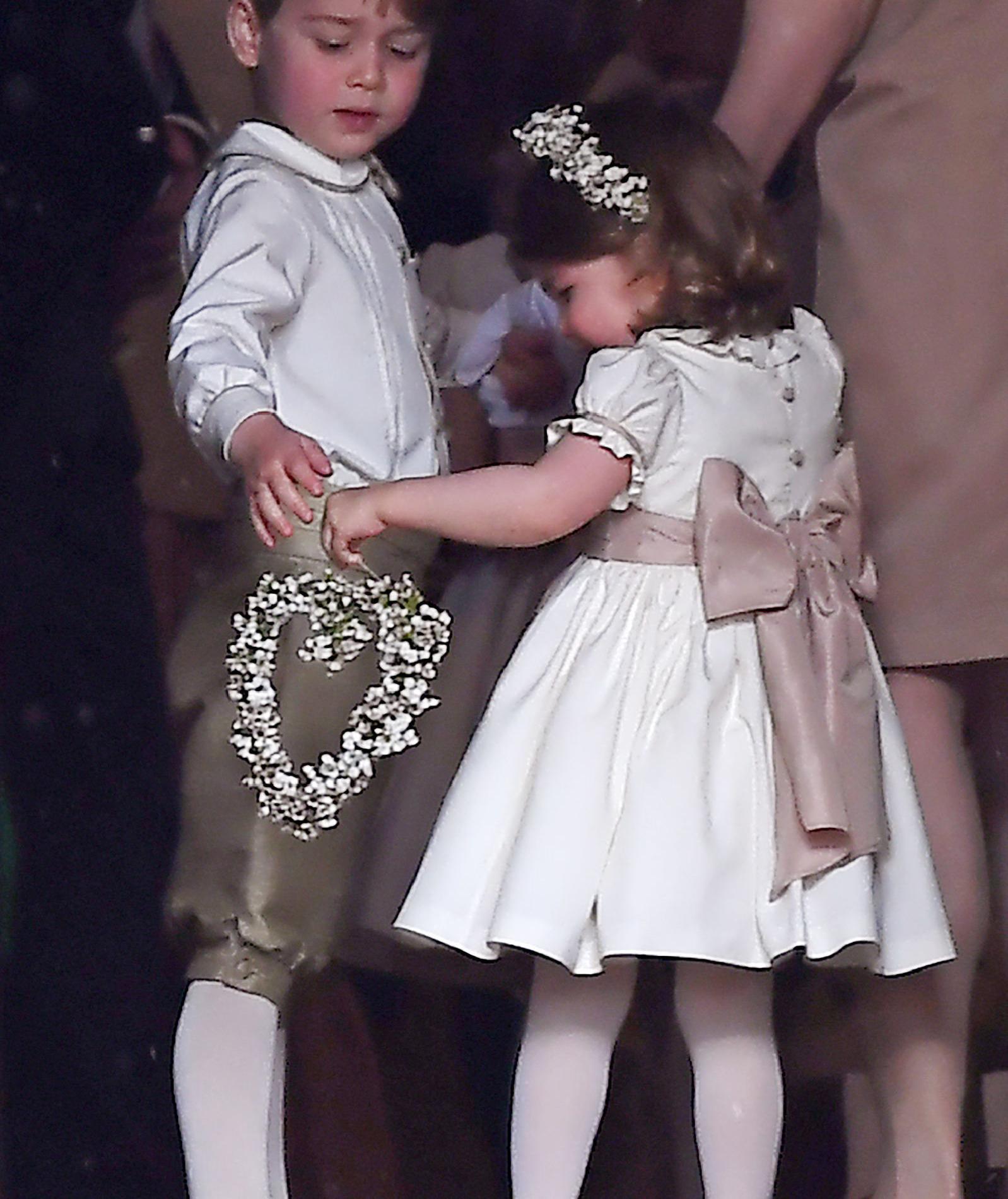 George et Charlotte, enfants d'honneur paparazzés
