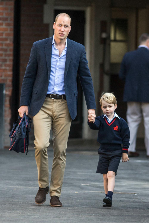 Les photos de la rentrée scolaire du prince George, sans Kate Middleton