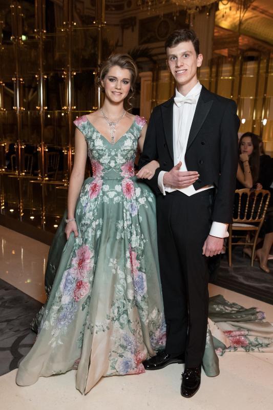 La princesse Zita de Bourbon Parme et son cavalier le prince Paul-Louis de Nassau, Bal des débutantes 2016