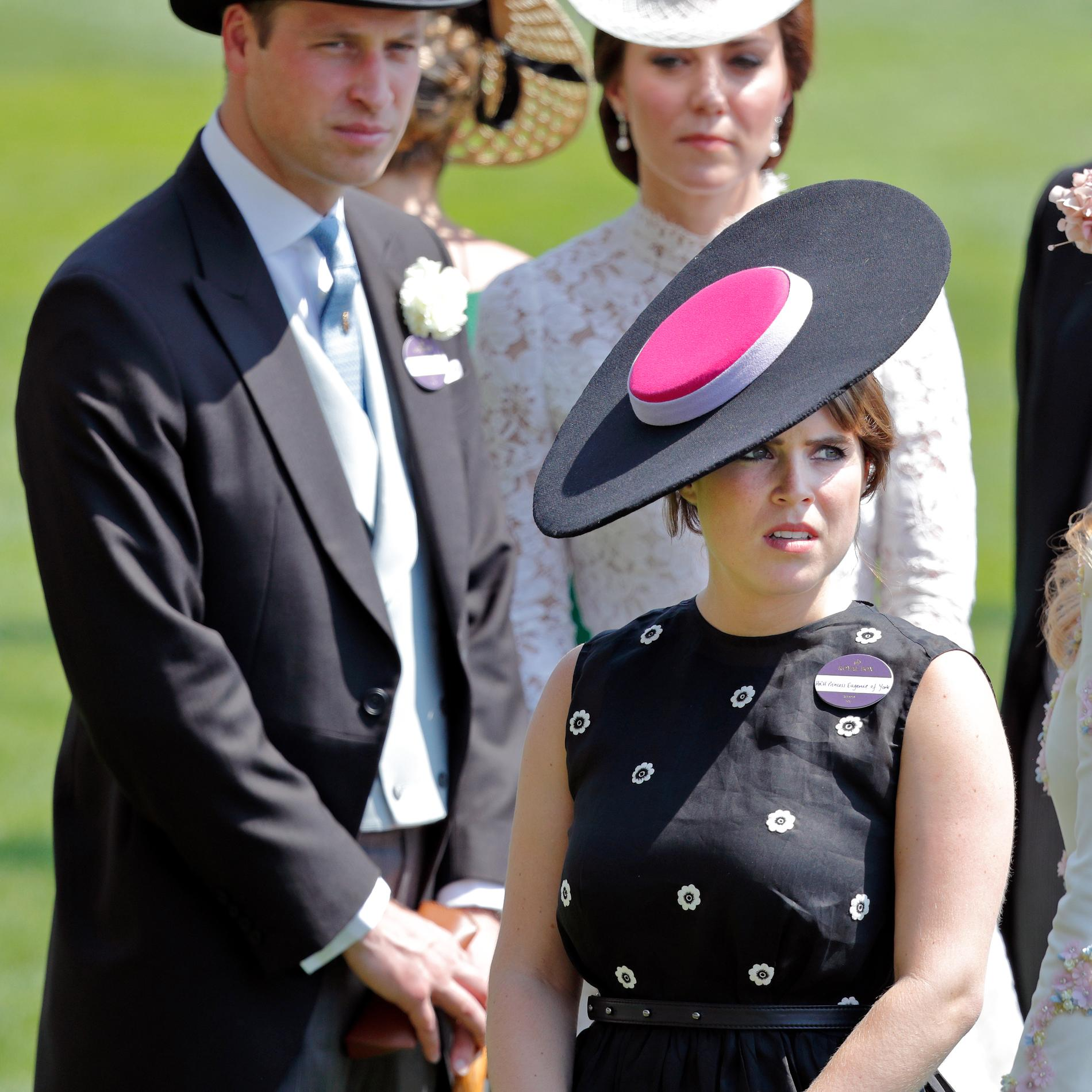 Kate Middleton, le prince William et la princesse Eugenie