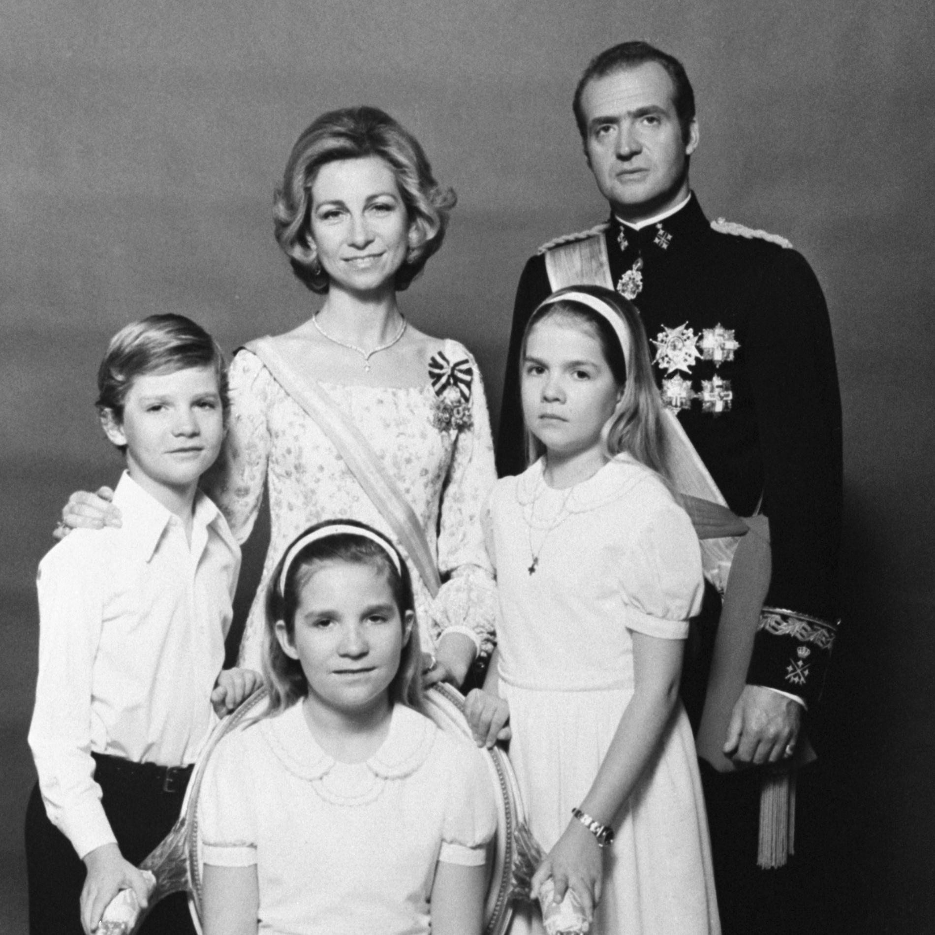La famille royale espagnole dans les années 1970
