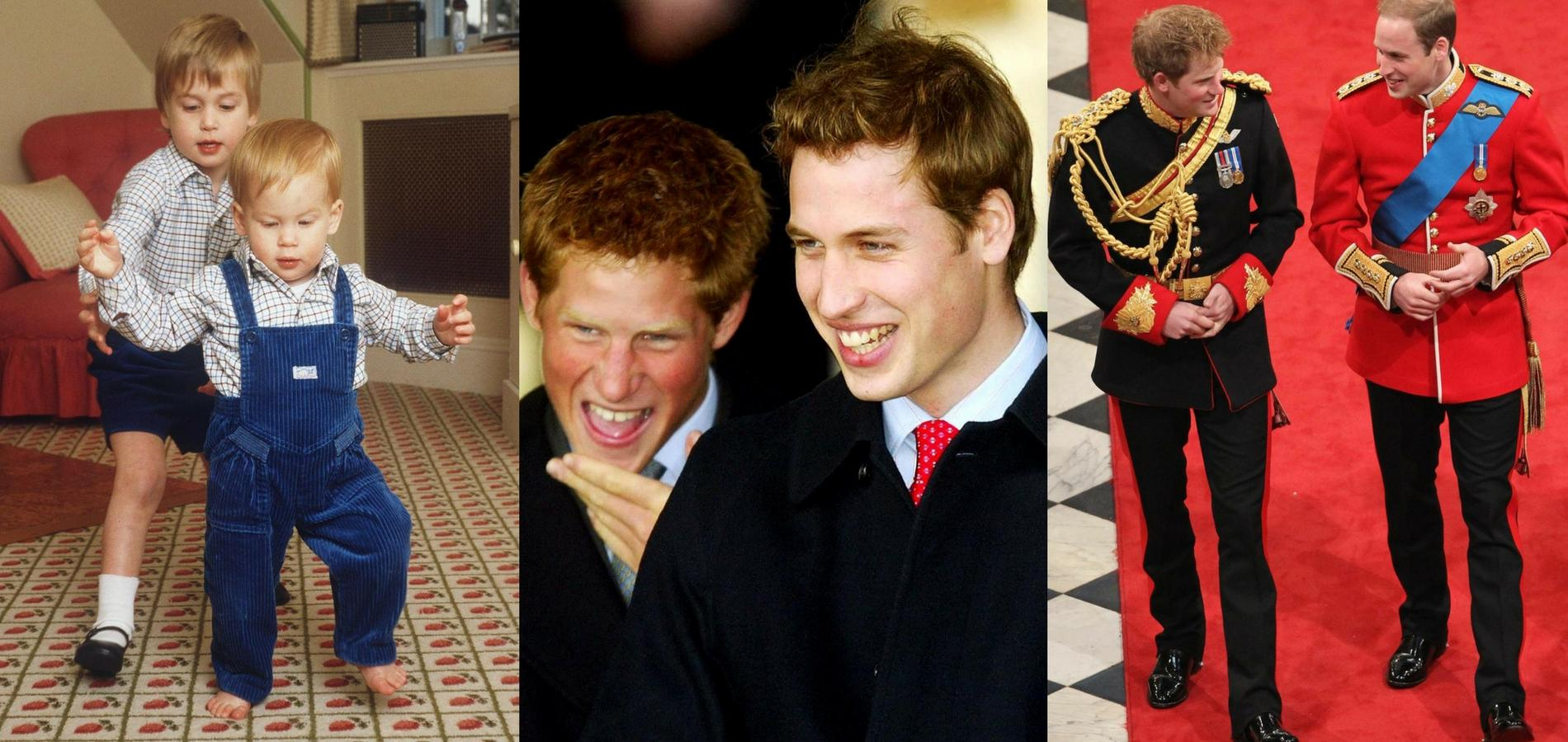 Les princes Harry et William