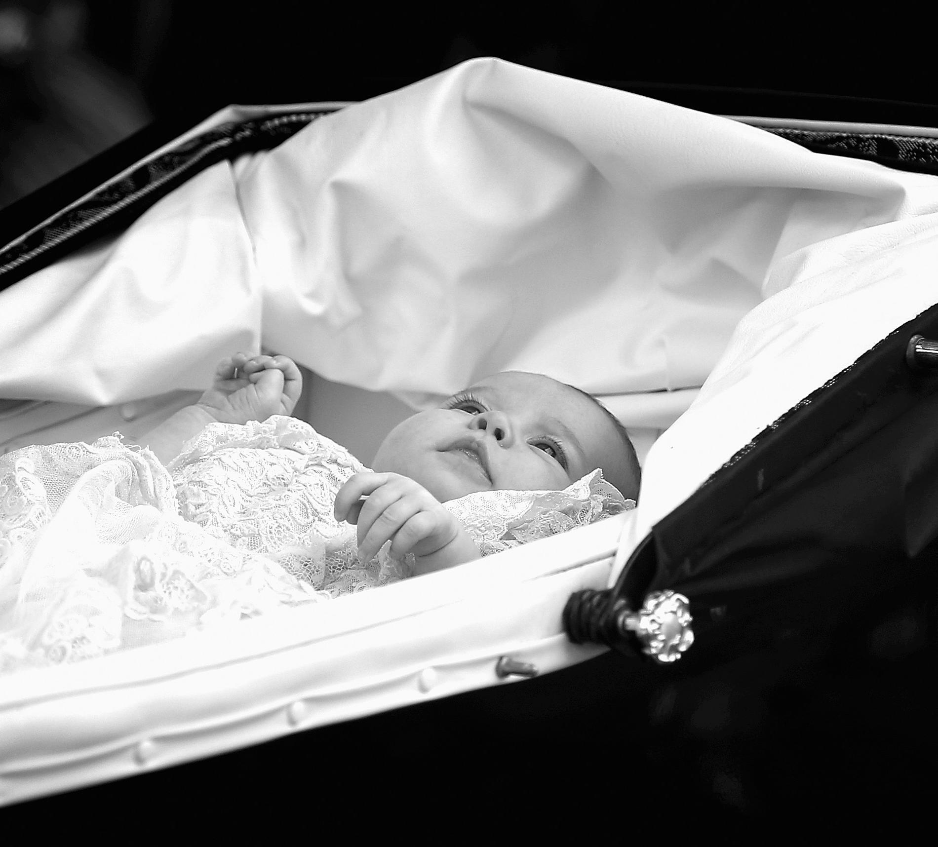 La princesse Charlotte bébé lors de son baptême