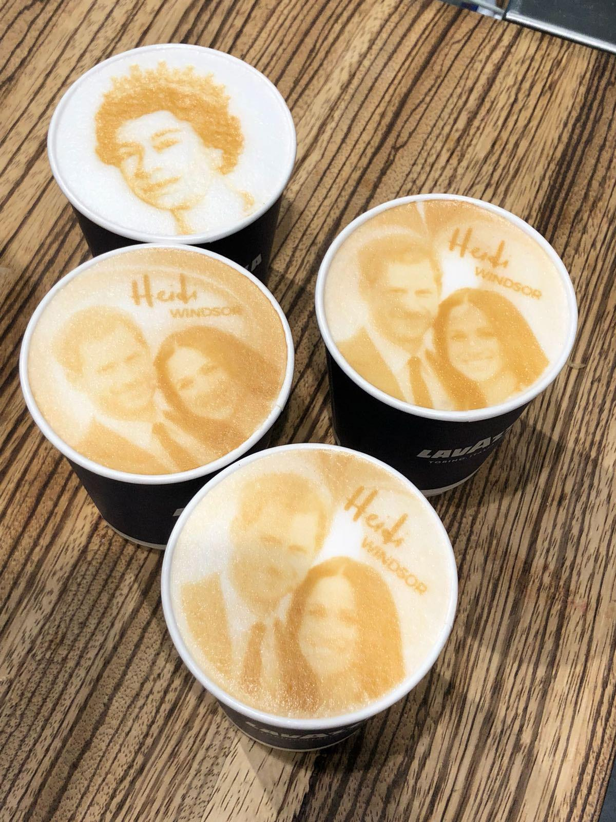 Latte art à l'effigie de la royauté