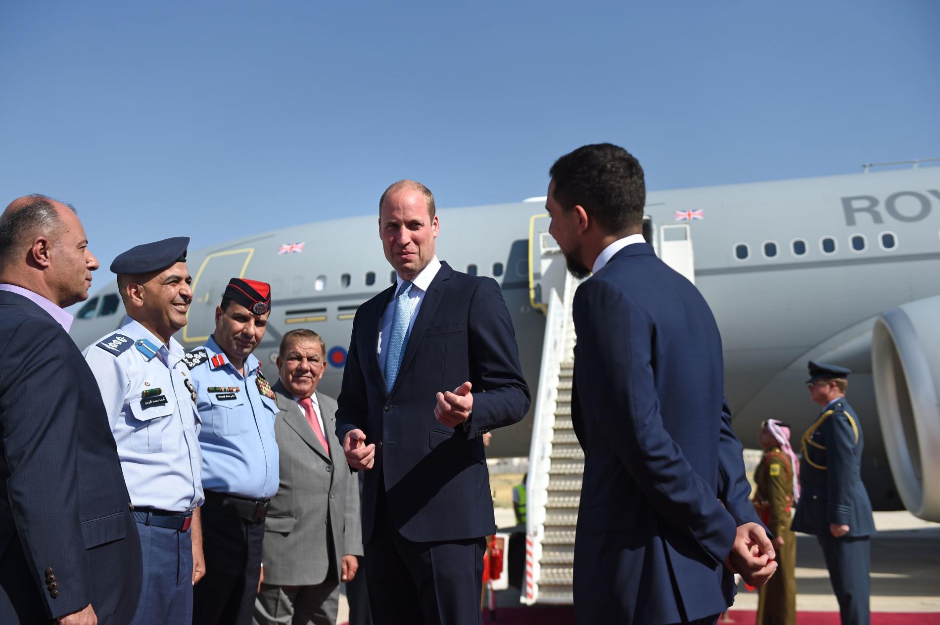 Le prince William est en Jordanie, première étape de sa tournée au Proche-Orient