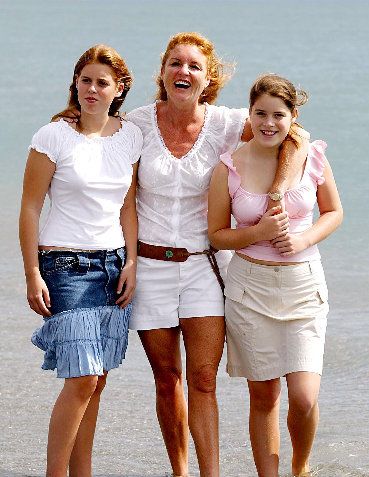 Sarah Ferguson et les princesses Beatrice et Eugenie