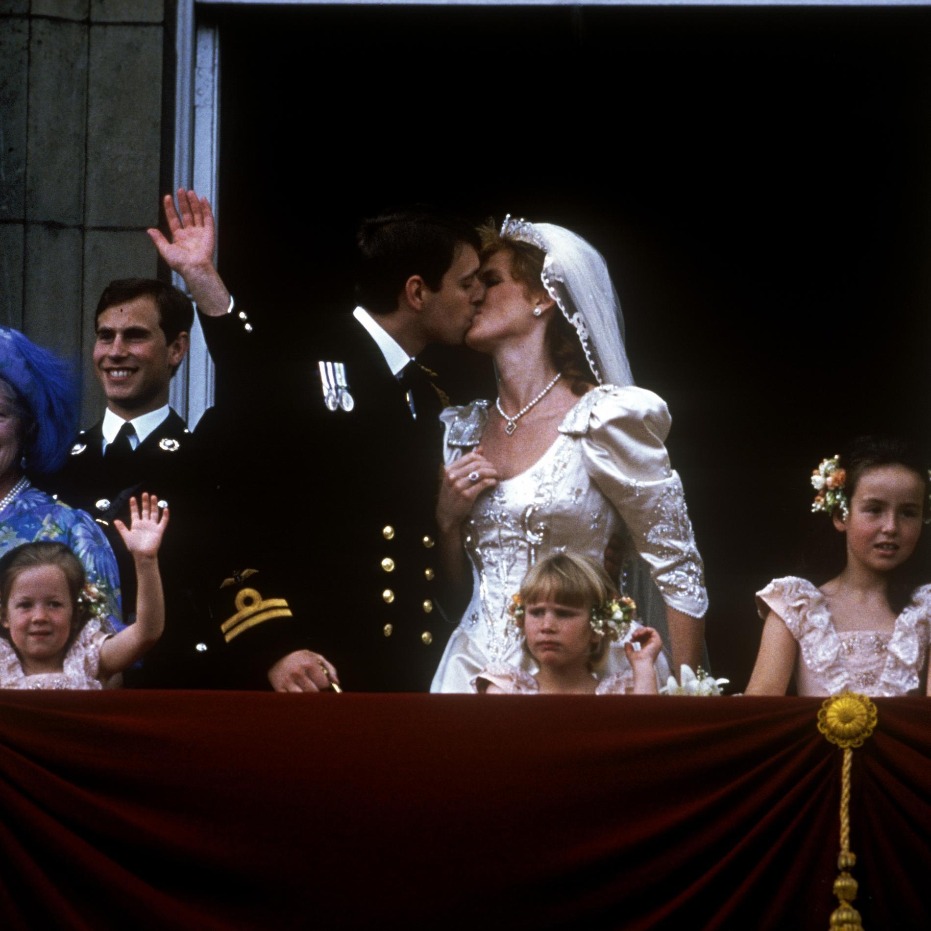 Le mariage du prince Andrew et Sarah Ferguson en 1986