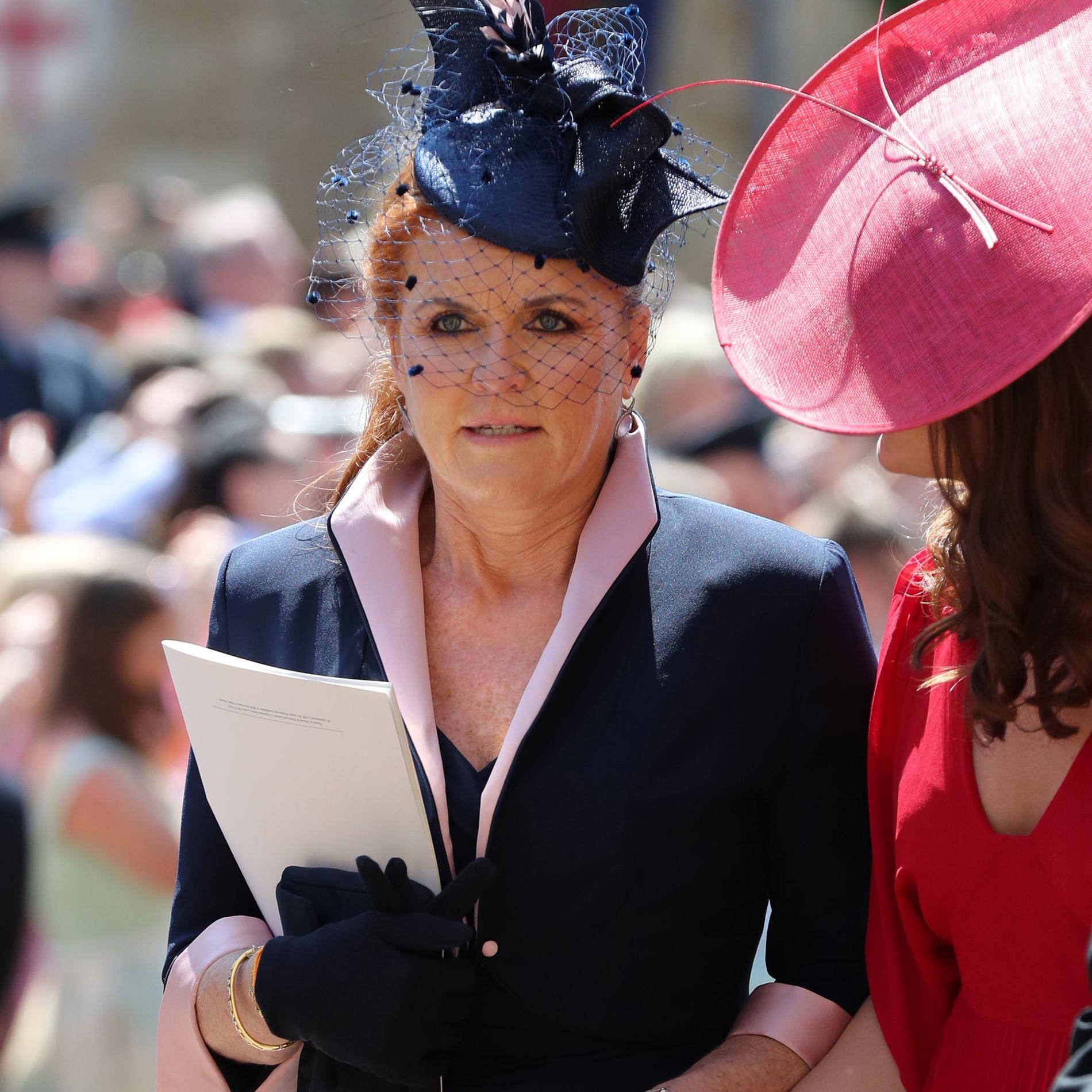 Sarah Ferguson au mariage du prince Harry et Meghan Markle en mai 2018