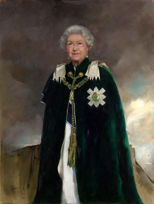 """Le nouveau portrait """"old school"""" de la reine Elizabeth II"""