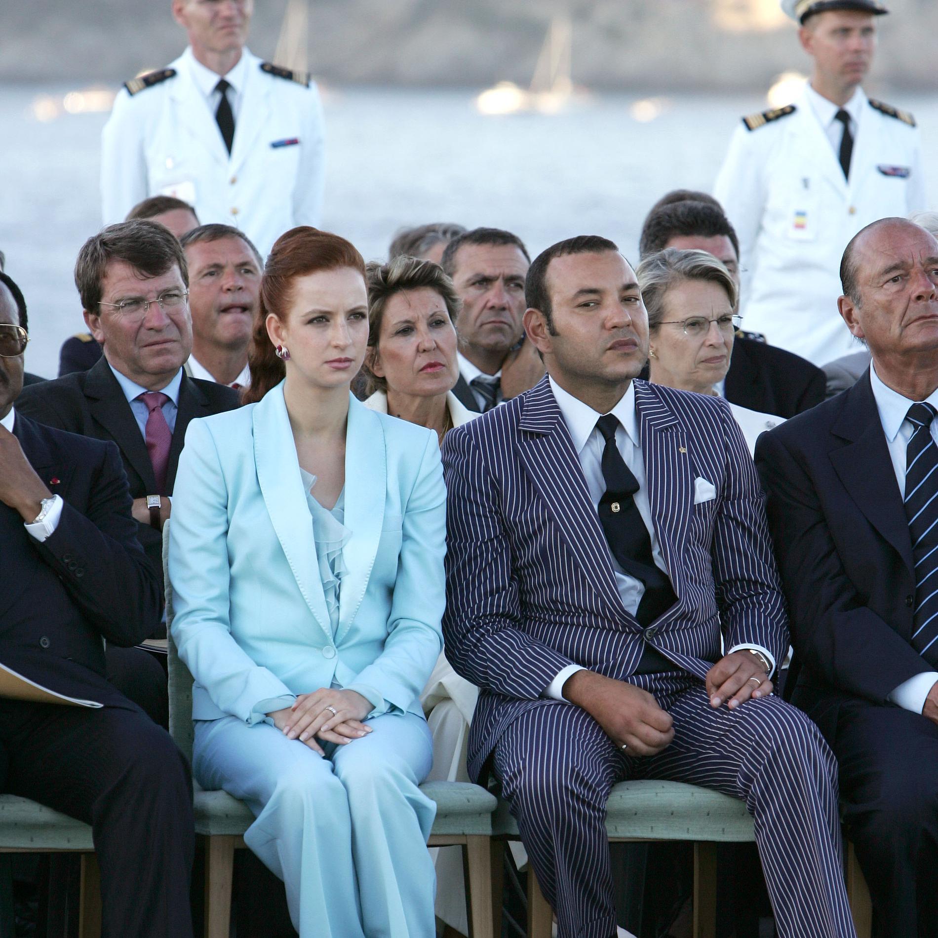 La princesse Lalla Salma et le roi du Maroc