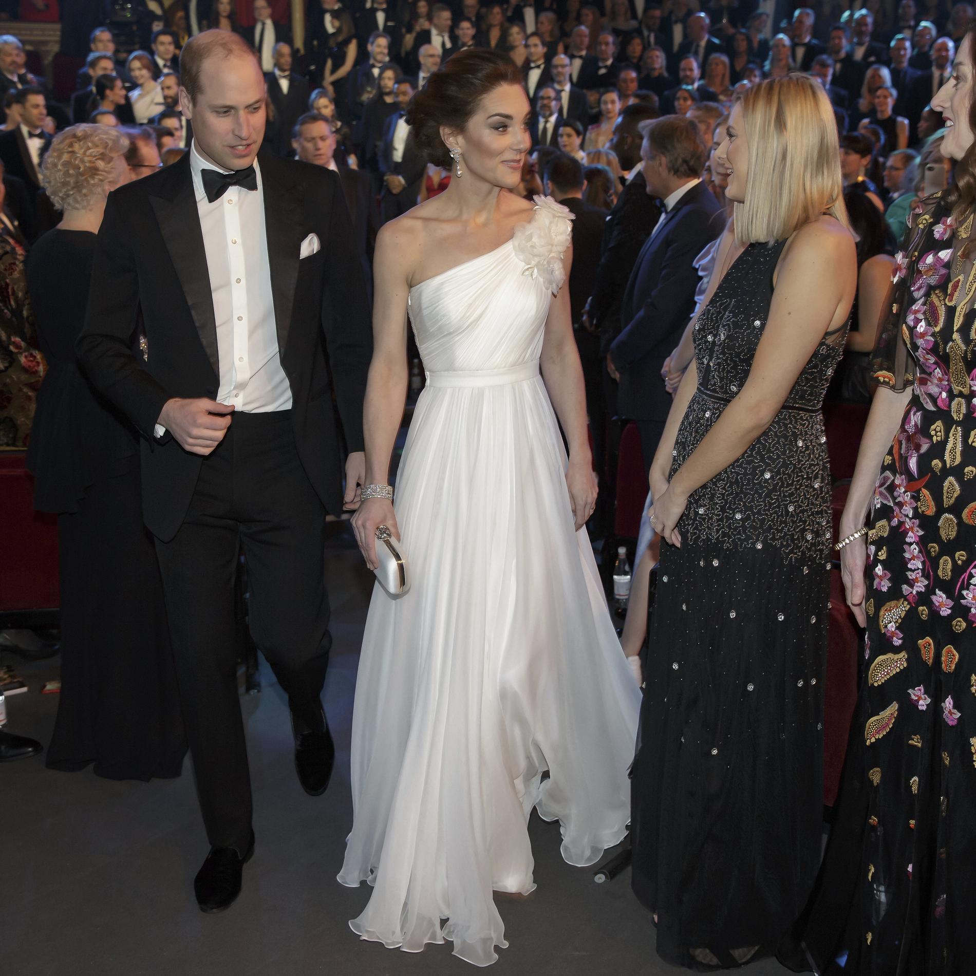 L'intimidante arrivée de Kate et William à la cérémonie des Bafta