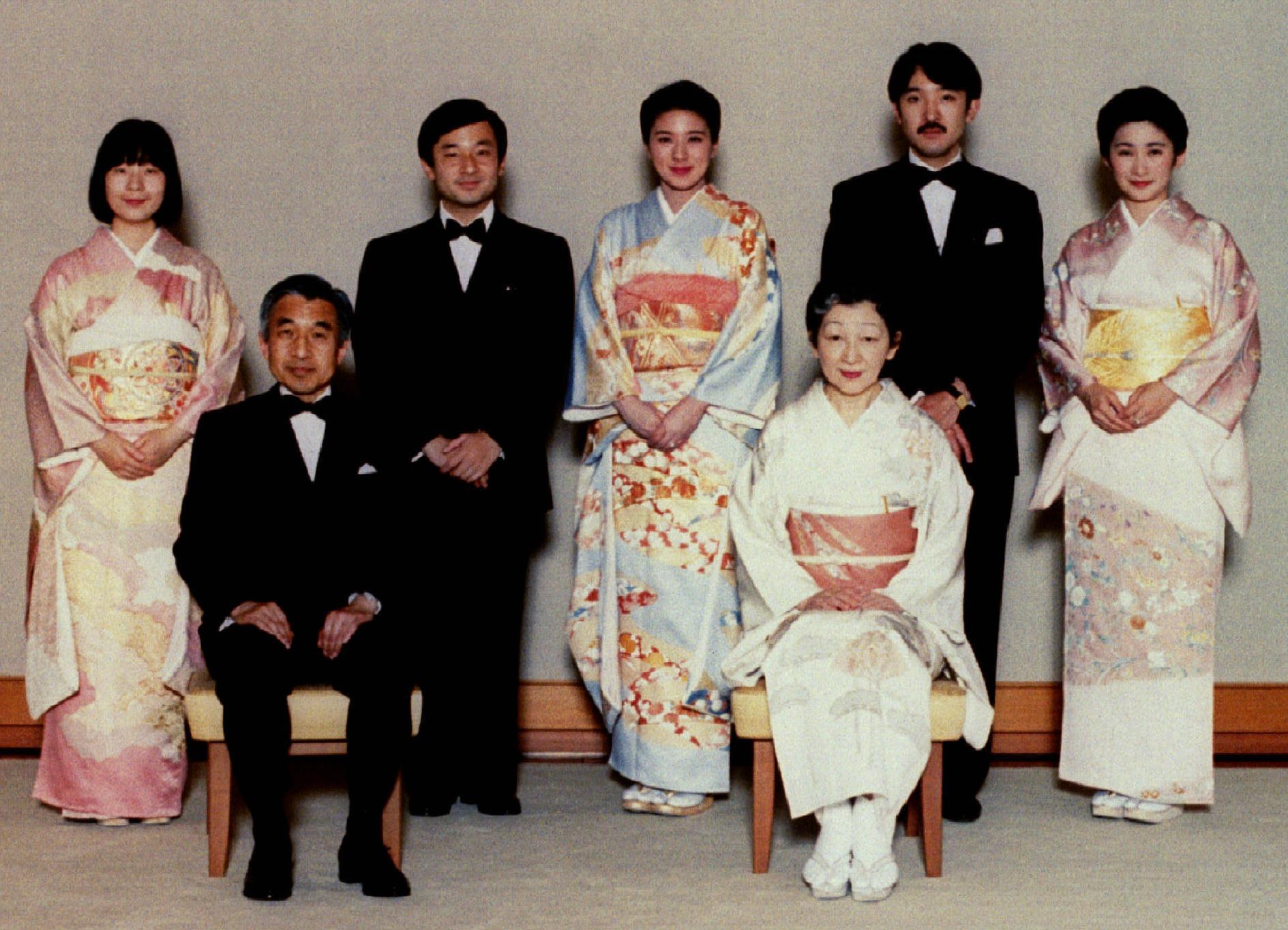 Le couple impérial et ses trois enfants