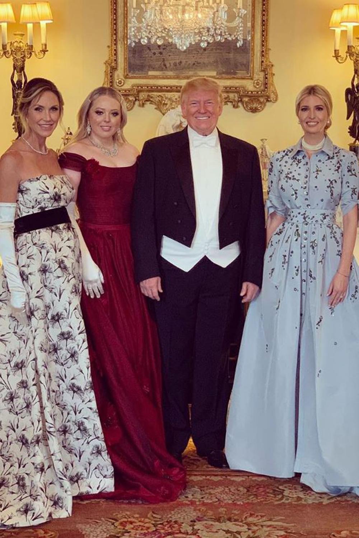 La quasi-totalité du clan Trump s'immisce dans le dîner avec la reine d'Angleterre