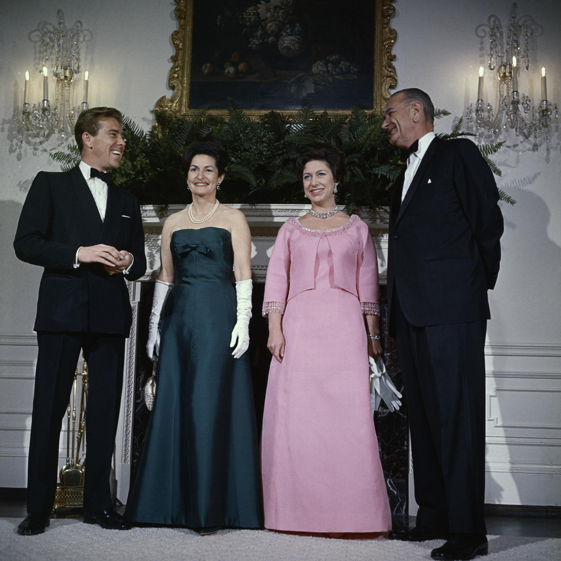 La princesse Margaret, Lord Snowden et le couple Johnson à la Maison-Blanche